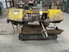(1) W.F. WELLS AND SONS HORIZONTAL BANDSAW WITH MATERIAL ROLLER AND EXTRA BLADES