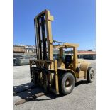 (1) Hyster H18CH Forklift- 18,000 lb cap, 4' forks, 2 stage mast, pneumatic tires, dual front tires,