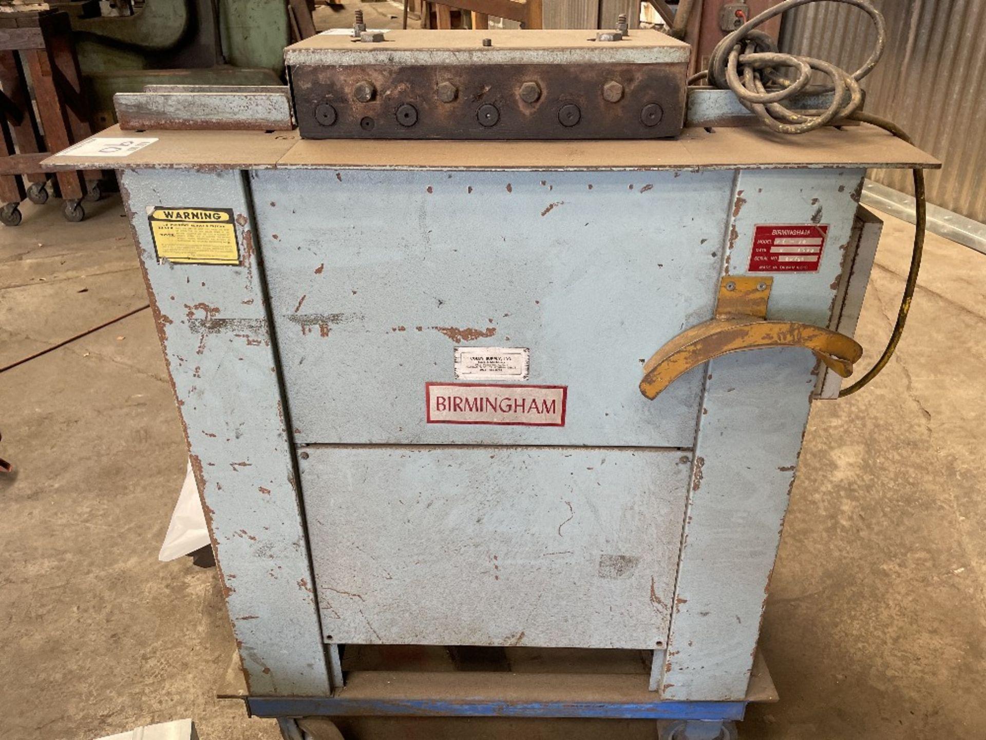 (1) BIRMINGHAM L-20 LOCK FORMING MACHINE