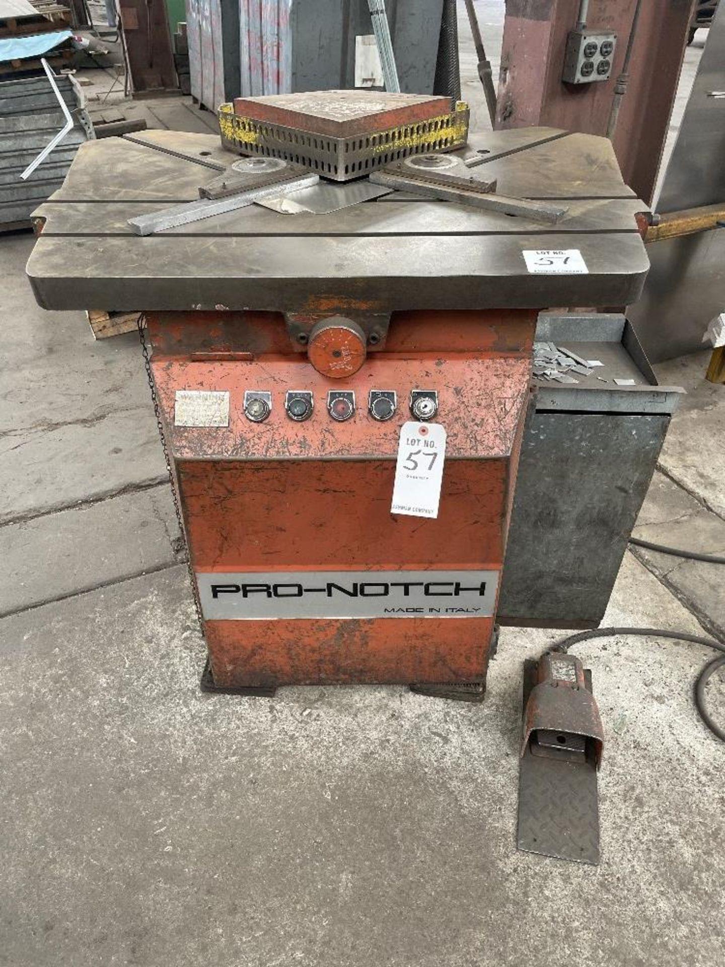 (1) PRO-NOTCH CORNER NOTCHER- S/N- LT250-16-031