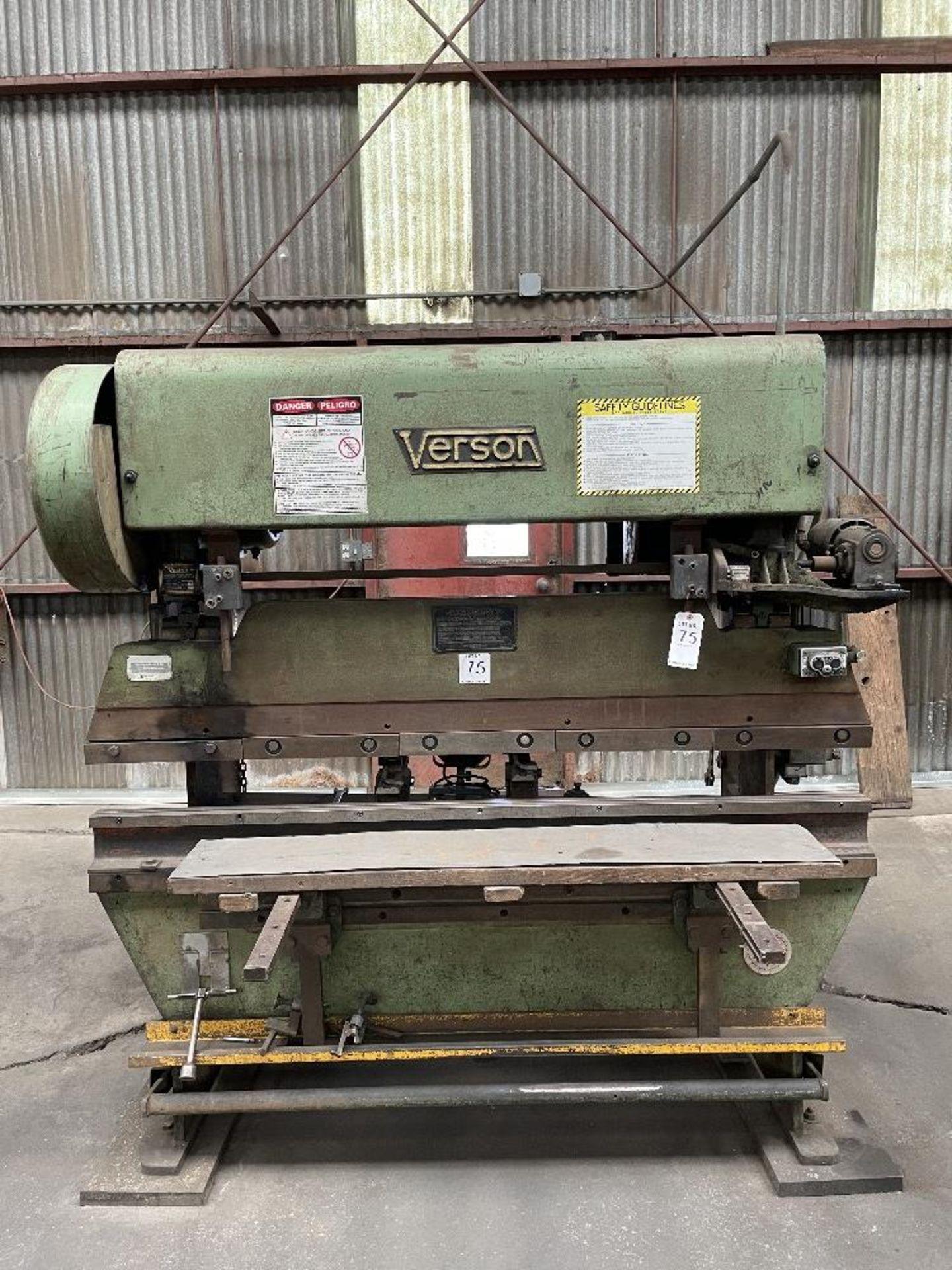 "(1) Verson Press Brake- 25 ton cap, 2"" stroke, 2"" shut height, s/n- 204491062"