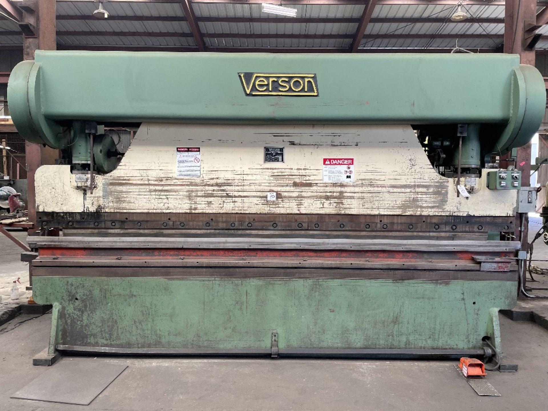"(1) Verson Press Brake- 90 ton cap, 3"" stroke, 12' brake, 12"" shut height, s/n- 27190.3012.90"