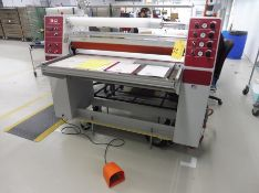 "2015 AGL 42"" Capacity Laminator, Model AGL4400T, S/N: 1986 w/120"" x 48"" Glass Top Steel Frame"