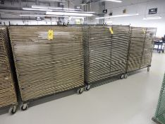 """Lot of (3) 45 Opening Mobile Material Drying Racks, 52"""" x 45"""", Powder Coated"""