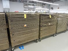 """Lot of (2) 45 Opening Mobile Material Drying Racks, 52"""" x 45"""", Powder Coated"""