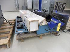 Lot of Miscellaneous AMERICAN UV Dryer Parts consisting of Bulbs, Deflectors, Mesh Conveyor, Control