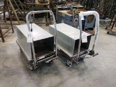 Lot of 2 HaulMaster Hydraulic Table Carts