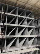 "NEW 60 PCS OF KEYSTONE UPRIGHT. SIZE 12'H X 42""D, 3""X 3"" GRAY"