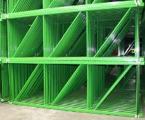 """NEW 60 PCS OF TEARDROP UPRIGHT. SIZE 12'H X 48""""D, 3""""X 3"""" GREEN"""