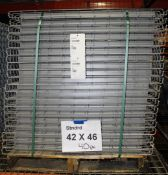 "NEW 40 PCS OF STANDARD 42"" X 46"" WIREDECK - 2200 LBS CAPACITY"