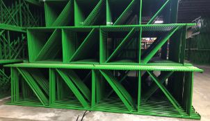"NEW 60 PCS OF TEARDROP UPRIGHT. SIZE 16'H X 42""D, 3""X 1-5/8"" GREEN"