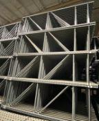 "NEW 30 PCS OF KEYSTONE UPRIGHT. SIZE 12'H X 36""D, 3""X 3"" GRAY"