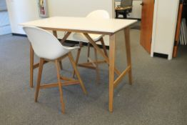 INDUSTRIAL DINING HIGH TABLE WITH 2 HIGH CHAIRS