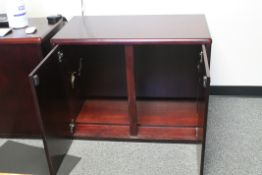 2 PCS OF WOODEN OFFICE CABINET