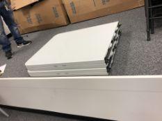 2 PCS OF 6' FOLDING TABLE PORTABLE PLASTIC PICNIC TABLE