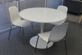 ROUND CAFE TABLE WITH 3 CHAIRS