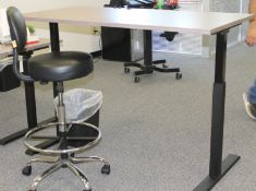 HEIGHT ADJUSTABLE OFFICE DESK WITH CHAIR