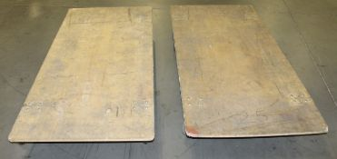 """2 PCS OF USED 30"""" X 68"""" FURNITURE AND APPLINCES MOVING DOLLY"""