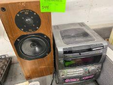 Aiwa stereo and one speaker