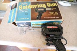 Soldering gun by Weller, model D550, with box