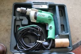 "Hitachi hammer drill model DV16VSS 5/8"" in case"
