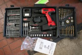 92-piece 12.2 volt cordless drill kit