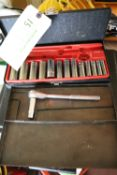 Two socket wrench sets