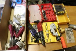 Hex keys, screw kits, wire terminal sets, and other miscellaneous