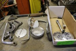 Honda mini bike parts, rear view mirror, pedals