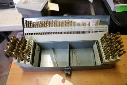 One box of various size drill bits