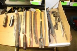 Crowbars, files and miscellaneous