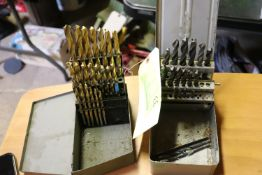Two boxes of drill bits