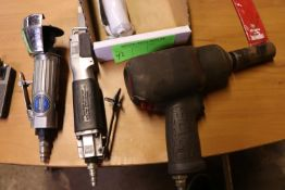 Pneumatic impact wrench, Central pneumatic high speed air body saw, and a Tough Mechanics pneumatic