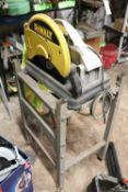 Dewalt chop saw on stand, model DW871