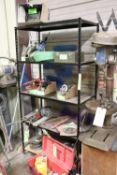 Five-tier metal shelf