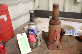 Two bottle jacks, 8-ton and one undetermined