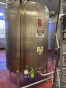 1500 Gallon Stainless Steel Vertical Tank