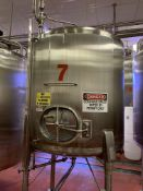 1000 Gallon Stainless Steel Vertical Tank