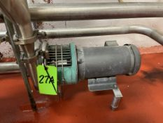 Tri-Clover 3HP Centrifugal Pump