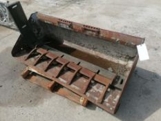 "(1) 67"" Heavy Duty Utility Bucket for Skid Steer and 53"" Teeth Attachment. Located in Mt."