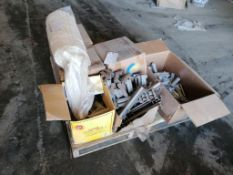 """(1) Pallet with (3) Boxes of 6-8-110"""" Channel Top Ties, Bumper Post Sleeves & Box of #3 Anchor"""