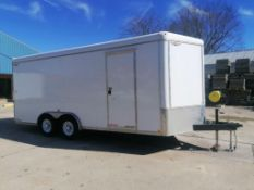 (1) 2017 H&H Enclosed Cargo Trailer, VIN #533CT1824HC264295, 8' x 18' V-Nose. Located in Mt.