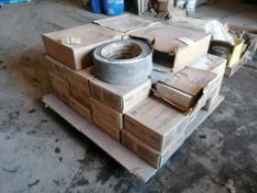 """(33) Boxes with 45 Pieces of 12"""" x 12"""" x 1/8"""" Through Pattern Mannington Commercial Tile & (4) Rolls"""