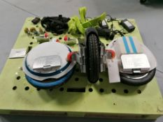 (3) Electric Unicycle with Battery Chargers & Parts. Located in Mt. Pleasant, IA.