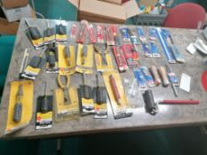 (1) Box Of Miscellaneous Tools, Bits & Hardware. Located in Marion, IA.