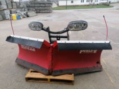"""(1) 8' 2"""" THE BOSS Power-V Snow Plow, Serial #BC086809. Located in Mt. Pleasant, IA."""