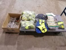 (1) Box with (25) Safety Goggles, (30) Pair of Gloves, (6) Ear Warm Caps & (1) XXL Safety T-shirt.