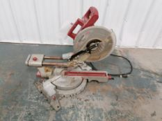 "(1) CHICAGO 10"" Compound Slide Miter Saw, Model 98199. Located in Mt. Peasant, IA."