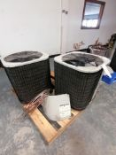 (2)Outdoor Split System A/C, Model JS6QD-030KA, 208/230 Volts. Located in Mt. Pleasant, IA.