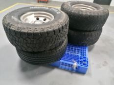 (4) Dick CEPEX Radial F-C II LT315 / 75 R16 Tires with 8 Hole Pattern Rims. Located in Mt. Pleasant,